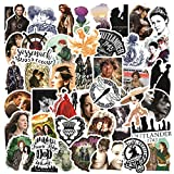 50pcs TV Series Outlander Stickers Waterproof Stickers Luggage Skateboard Water Bottle Stickers Decal Bicycle Bumper Snowboard Decorate (Outlander