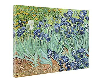Niwo ART - Irises by Vincent Van Gogh - Oil Painting Reproductions - Giclee Canvas Prints Wall Art for Home Decor Stretched and Framed Ready to Hang  20 x 24 x 1.5 Inch