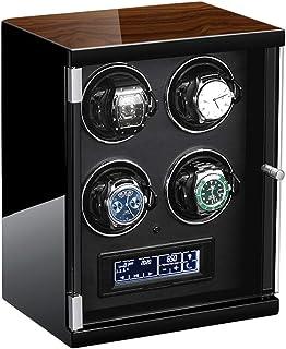 WZ - Pantalla Táctil LCD Automático Mira La Cuerda con Mando A Distancia Motor Silencioso Ligero Almohadas Reloj Flexibles para Hombres Mujeres Regalo (Color : Black)