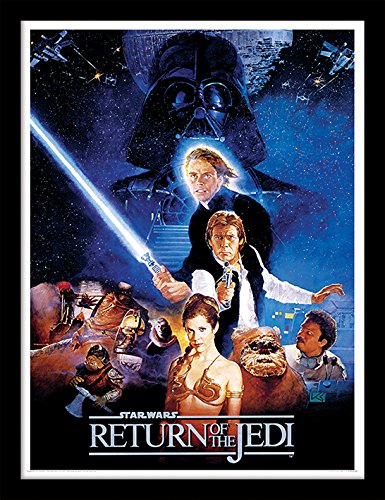 Star Wars FP11222P-PL Return of The Jedi, gerahmter Druck, 250 gsm Paperwrap MDF, mehrfarbig, 3.80 x 44.00 x 35.40 cm