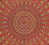 Hashcart India King Size Tapices tradicionales Bloque de madera Colgante de pared impreso, Colcha de algodón / Mantelería de tela / Sábana, Decoración del hogar