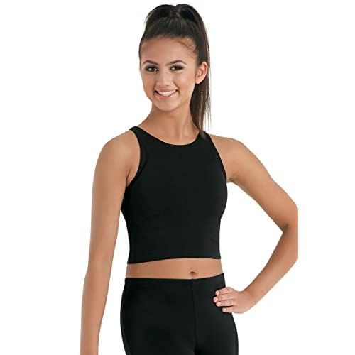79f9c3973bd5c3 Black Dance Crop Top  Amazon.com