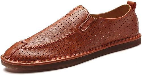 Honneur Chaussures Habillées Habillées Habillées pour Hommes en Cuir avec Un Seul Pied en Cuir pour Hommes Mocassins 90a