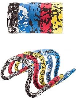 Gohbqany-SP Bike Handlebar Tape 2PCS Camouflage EVA Road Bikes Handlebar Tape Bar Wraps (Color : Yellow+Black)