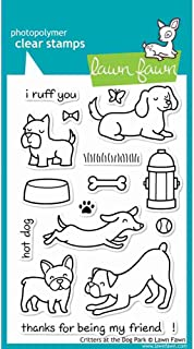 Lawn Fawn Clear Stamp - Critters At The Dog Park (LF515)