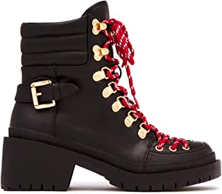Cape Robbin Summit Lug Sole Lace Up Chunky Heel Platform Ankle Boot