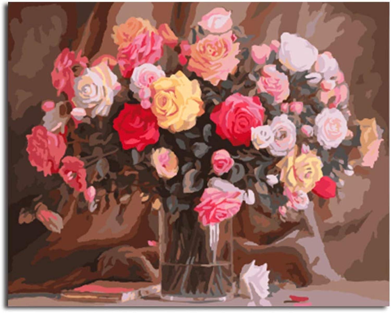 ahorre 60% de descuento NGDDXTG Framed Flower Home Decor Decor Decor DIY Painting by Numbers Digital Canvas Oil Painting Wall Art For Living Room  venta de ofertas
