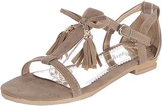 TAOFFEN Women Fashion Flat Sandals Open Toe