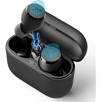 Edifier X3 True Wireless Stereo Earbuds, Bluetooth 5.0 Music Earbuds with CVC 8.0 Noise Canceling, TWS in-Ear Headphones with Charge Case, IP55 Dustproof & Waterproof, Deep Bass Black