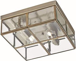 Lámpara de techo en bronce Bauhaus Diseño 2x E14hasta 40W 230V de metal & Cristal Dormitorio Cocina Comedor lámpara Leuchten Interior Iluminación