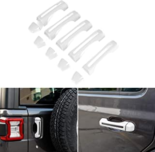 White Door Handle Inserts Cover Kit & Tailgate Handle Cover for 2018-2021 Jeep Wrangler JL JLU & Gladiator JT Cover Trim Exterior Accessories 2 & 4 Doors