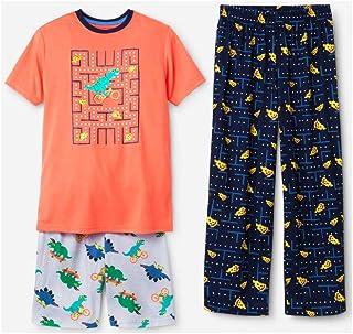 9945fc65cbe7c Cat & Jack Boys 3-PC Sleep Pajama Set Dino Pizza Tetris Print