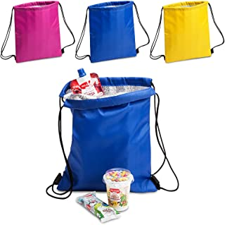 ANTEVIA - Lot de 3 sacs isotherme 27 x 33cm | PLUS DE 10 MODÈLES | Glacière | Matière: Polyester 210D |Couleur : Violet Bl...