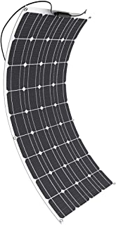 Solar Panel GIARIDE 18V 12V 100W Flexible Solarpanel High-Efficiency Monocrystalline Cell with MC4 Connectors Flexible Bendable Off-grid Solar Panel Charger for 12 Volt Battery, RV, Camping, Boat, Car
