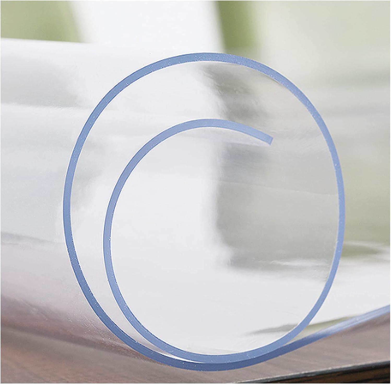 Mantel Protector de Mesa de PVC Transparente, Suave e Impermeable, de 1,5 mm, Transparente, Adecuado para el Mueble de TV de la Sala de Estar del Comedor(Size: 90x110cm/35x43in)