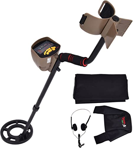 """popular Goplus Metal Detector new arrival Waterproof Coil Underground 8.3"""" Deep lowest Sensitivity Gold Search 5 Modes w/Headphone & Backpack MD-6300 outlet online sale"""