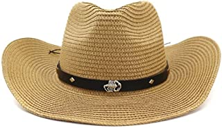LiWen Zheng Cowboy Hat Hat Man Woman Outdoor Beach Scorpion Silver Metal Beach Hat Sun Visor Adjustable