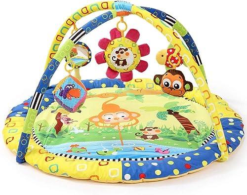 RANRANJJ Super Deluxe Activity Gym Spielmatte, Classic Animals Kinderdecke Babyspielzeug Gym Set Pad Spielmatten 0-12 Monate (Farbe   A)