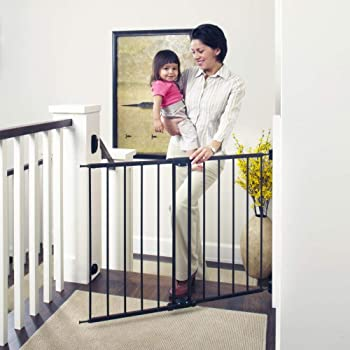 """Toddleroo by North States 47.85"""" Wide Easy Swing & Lock Baby Gate: Ideal for Wider Areas and stairways. Hardware Mount. Fits Openings 28.68"""" - 47.85"""" Wide (31"""" Tall, Matte Bronze)"""