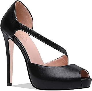 Women Peep Toe Hiddent Platform Pumps 5 inches Stiletto High Heels Party Wedding Sandals