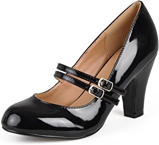 Journee Collection Womens Mary Jane Patent Faux Leather Pumps