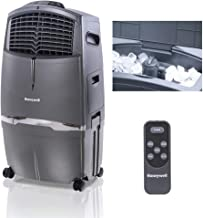Honeywell 525-729CFM Portable Evaporative Cooler, Fan & Humidifier with Ice Compartment & Remote, CL30XC, Gray