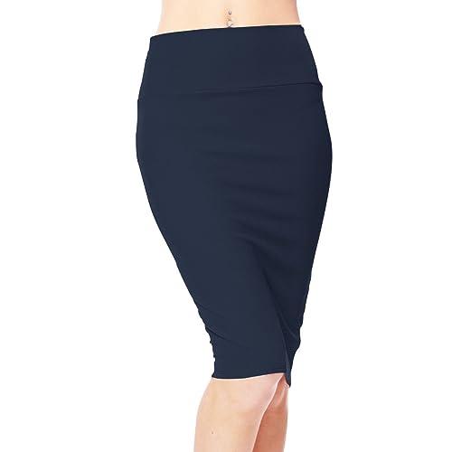 055cc86773 Urbancoco Women's High Waist Stretch Bodycon Pencil Skirt