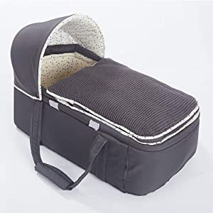 YUELAI Baby Nest Portable Travel Nest Pod Infant Lounger Sleeper Crib With Canopy Detachable Baby Cocoon Sleeping Pod Great for Sleeping and Traveling Cotton Baby Bassinet Cribs gray