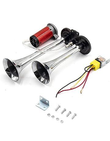 cami/ón bocina de coche de 24 V accesorio de dise/ño de coche barco EBTOOLS Bocina de coche bocina de caracol el/éctrica negra universal para coche