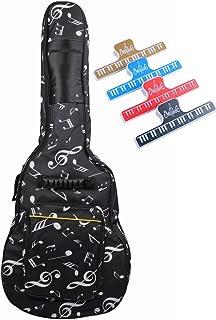 Nuzamas - Bolsa acolchada para guitarra, Oxford, tamaño 39 – 40 cm, doble correa ajustable para el hombro, bolsillo grande y 4 clips de páginas para teclado