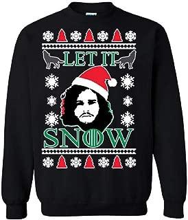 Christmas sweater Rozalie Let It Snow Jon Snow, Funny, GOT Christmas Sweatshirt.
