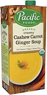 Pacific Foods Organic Cashew Carrot Ginger Soup, 32oz, 12-pack