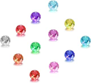 Feilaiger 60pcs 5mm Crystal Birthstone Charms for Floating Charm Living Memory Lockets Pendant Necklace (Round 60pcs)