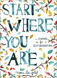 Looking back allows for personal growth. Start where you are says this book cover.