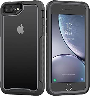 iPhone 8 Plus/iPhone 7 Plus/iPhone 6S Plus/iPhone 6 Plus Case, Yoomer Ultra Slim Shockproof Reinforced PC Frame Crystal Durable Flexible TPU Bumper Case for iPhone 8 Plus/7 Plus/6S Plus/6 Plus 5.5