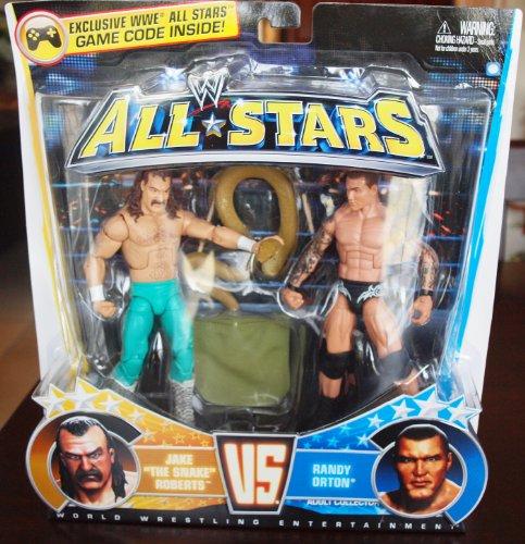 WWE All Star 2 Pack - Randy Orton und Jake the Snake Roberts Figuren