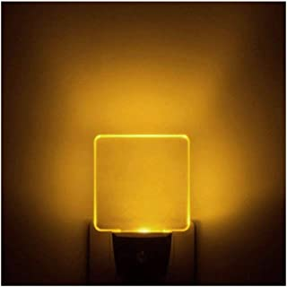 [Pack of 2] UL Listed Auto ON/Off Plug in LED Night Light with Dusk to Dawn Sensor (Bright Warm White/Yellow/Amber Glow)
