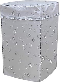 洗濯機カバー 防水 防日焼け 防塵 紫外線 最新厚手生地,丈夫で長持ちするオックスフォードを独特な防水処理技術で加工して、耐久性と防水性が良い(M: 幅55×奥行56×高さ91cm 6-7.5kg)