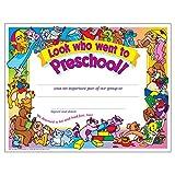 Look Who Went to Preschool! Certificate (30 Pack) elliptical brands Mar, 2021
