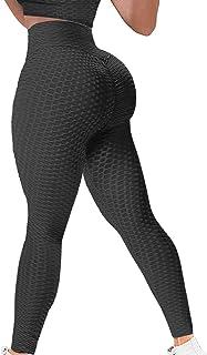 YAMOM High Waist Butt Lifting Anti Cellulite Workout Leggings for Women Yoga Pants Tummy Control Leggings Tight