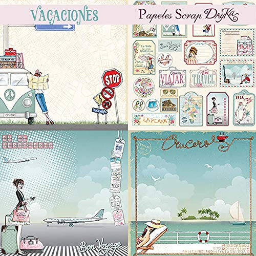 Dayka Trade Kit De Scrapbooking, Papel, Multicolor, 30 X 30 Cm