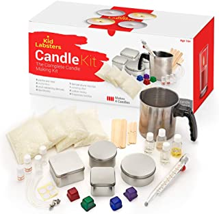 Kid Labsters Complete DIY Candle Making Kit - Beginner Soy Wax Candle-Making Set for Homemade Scented Candles - Art Supplies for Kids & Adults