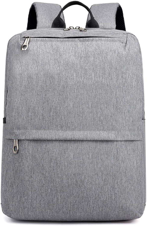 Men's Canvas Backpack, Business Casual Computer Bag, Large Capacity Waterproof Travel Bag