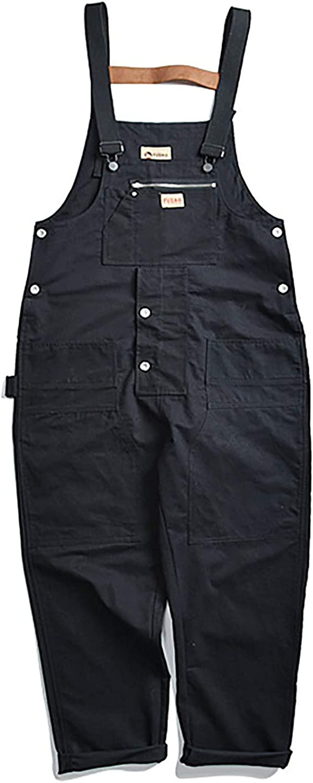 SOUGAO Men's Oakland Mall Duck Bib Overall Wide Suspender Pants Superior Leg Cotton Hi