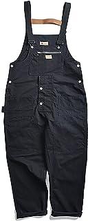 Cicilin Men's Bib Overall Wide Leg Dungarees Cotton Trousers Overalls