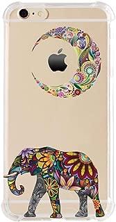 iPhone 6/6s Plus Shock Absorption Case (5.5 inch screen), Moon Elephant Design