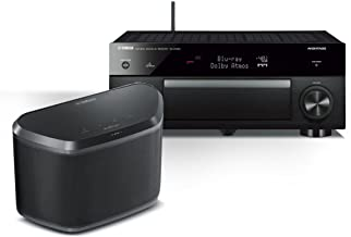 Yamaha RX-A1050 7.2-Channel Dolby Atmos 4K AVENTAGE Network AV Receiver with WX-030 MusicCast Wireless Speaker (Black)