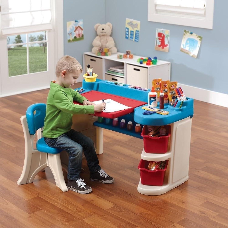 Generic Pockets Rack Crafting Table ble Chair Large Storag Studio Art Desk Studio A Chair Large g Crafting Kids Drawing t Desk Storage Pockets Rack