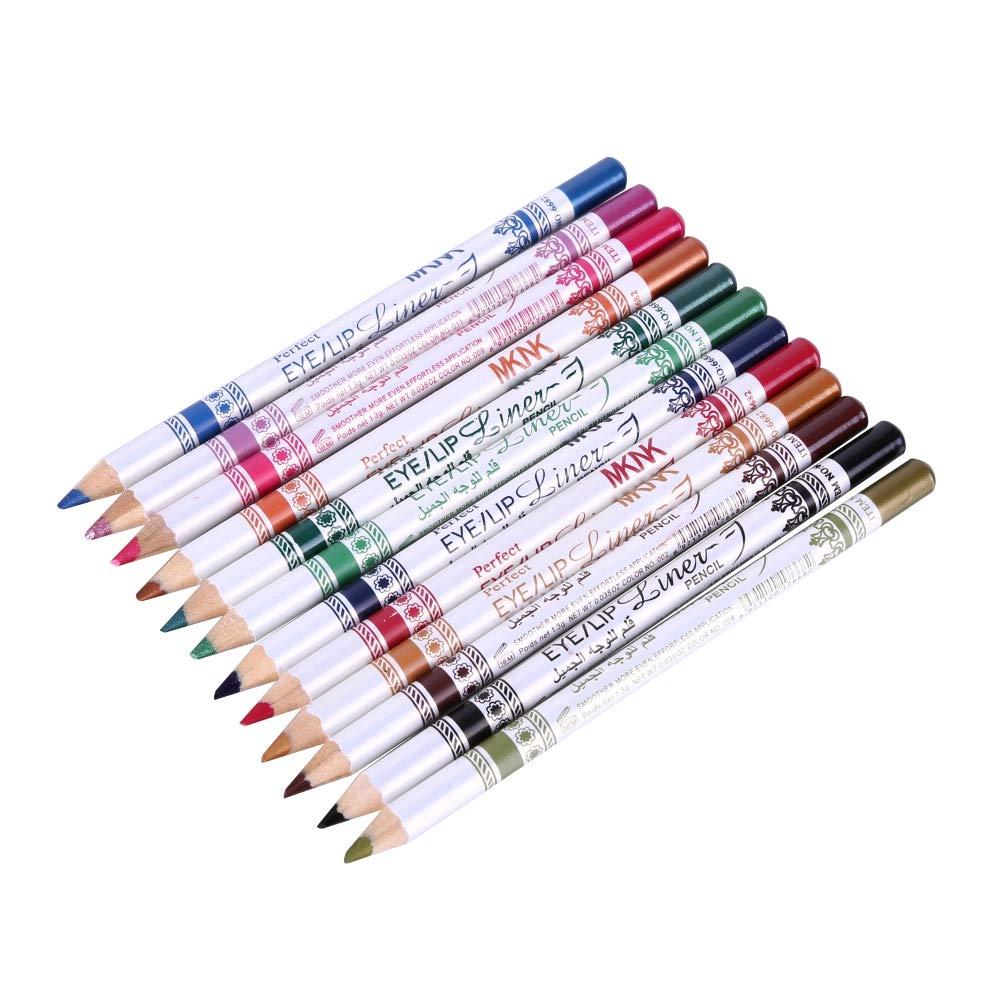 12Pcs Easy-to-use Shimmer Eyeshadow Eyeliner Las Vegas Mall Cosmeti Set Professional Pencil