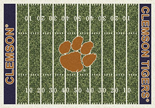 American Floor Mats Clemson Tigers NCAA College Home Field Team Area Rug 3'10